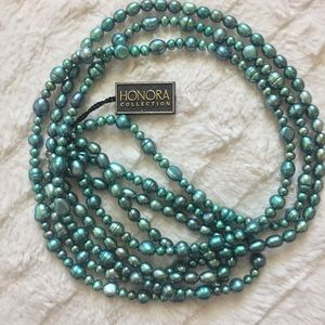 NWT! Honora Three Strand Freshwater Pearl Necklace